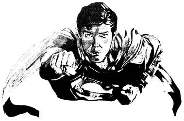 Superman - Chris Reeve BW by DTM352