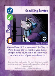 TSSSF Pony Card - Good King Sombra 1.0.6 by MLP-NovelIdea
