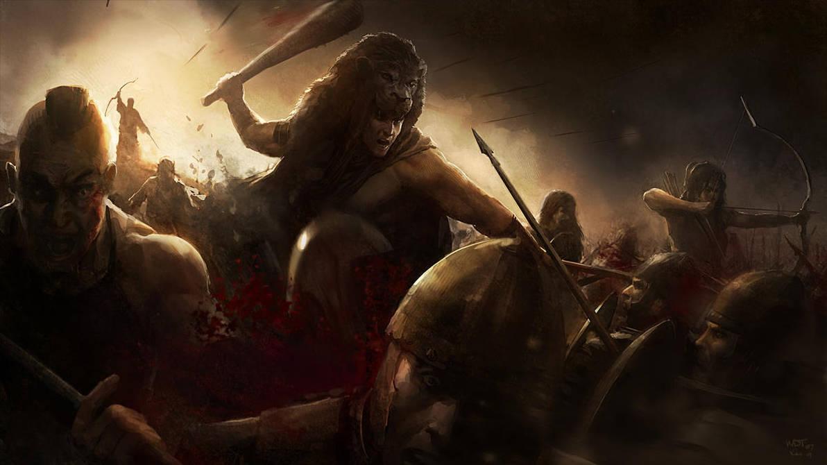 Hercules in Battle by wraithdt