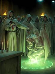 Templars Summon a Demon by wraithdt