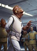 Star Wars Armada - Admiral Ackbar by wraithdt