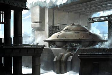 Nazi Moonbase - Antarctic Base by wraithdt