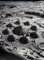 Nazi Moonbase - Moon Base by wraithdt