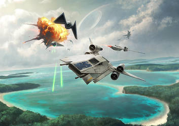 XWMG - U-Wing vs Tie Striker by wraithdt