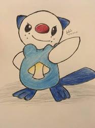 Drawing of Oshawott by ZeldaGeek39