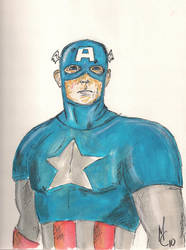 Captain America by red-pincushion-queen