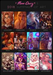 2018 Summary of art by Momo-Deary