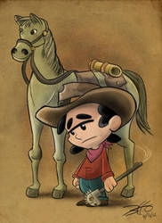 Cow Boy pin-up by obertoons
