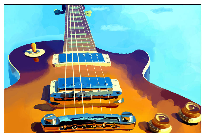 Guitar painting by sid