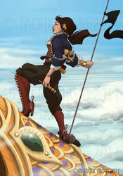 Lady Skylark,Captain of the QP by Jackie-M-Illustrator