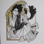 Inktober2015 Day:14 - Fatima by Jackie-M-Illustrator
