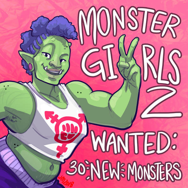 Monstergirls2 Call by Jackie-M-Illustrator