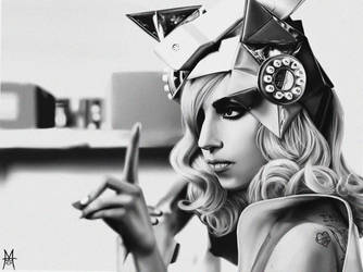 Lady GaGa Drawing by MauroIllustrator
