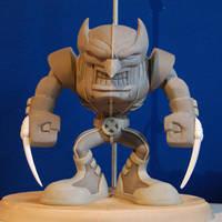 Wolverine Subcast sculpt front by MalottPro