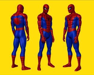 spider-man digital statue by MalottPro