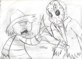 Freddy vs Jason by xEvilxPenguinxNinjax