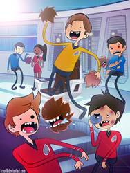 Star Trek - Tribble Dodgeball With Red Shirts by FrauV8