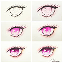 Coloring Eye (Step by Step) by Chartreuse96