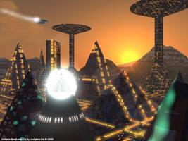 Arrival at Barajheenak City by Joelglaine