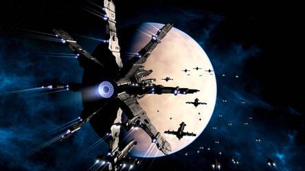 Invasion Fleet by Stormfactor