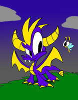 Spyro and Sparks by WaggonerCartoons