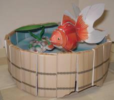 Papercraft - Goldfish by KuroiSenshi