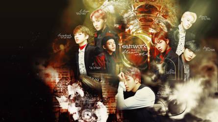 BTS Wallpaper - Teamwork Makes the Dreamwork by Nomicane