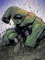Hulk smash coloured by belgerles