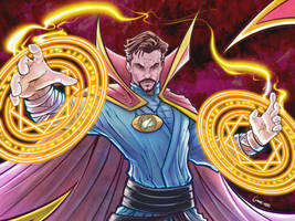 Dr Strange warm up... by belgerles