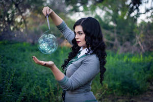 Casting Spells - Harry Potter Slytherin Cosplay by MegynMuse