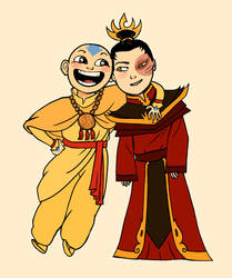 The Avatar and the Fire Lord by polvoice