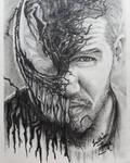 Tom Hardy Venom by LuthienThye