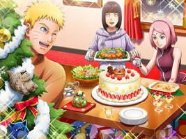 NaruHina y Sakura Christmas by AiKawaiiChan