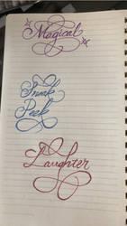 Calligraphy 01 by LightningBoltInSky