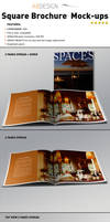 Realistic Square Brochure Mock-ups Templates by andre2886