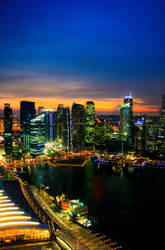 Singapore Skyline by andre2886