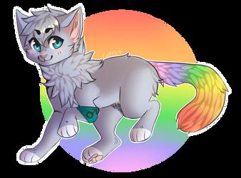Magic Rainbow Munchkin Nugget Cat! by CattyMcNuggets