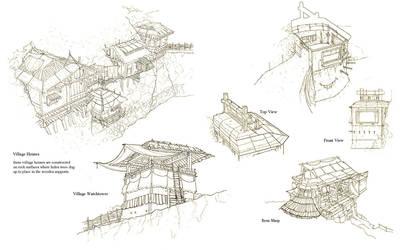 Village Sketch by wwudesign