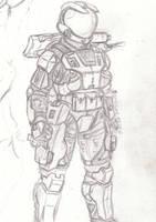 non-MJOLNIR Spartan armor by korblborp