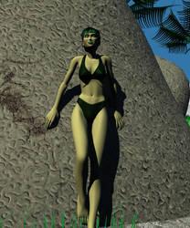 Jade on the rocks I by korblborp