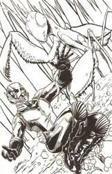 Bug Fight! by artistjerrybennett