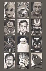 Sketchcard- Various by artistjerrybennett