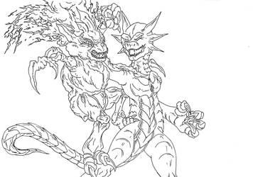 Kaiju: DEATH BATTLE [SLIERUS VS FLAIN] by Cyprus-1
