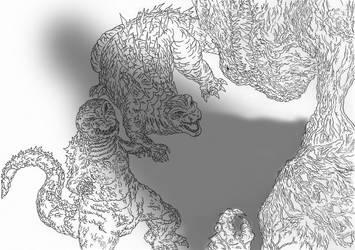 Kaiju:  Brawl Of Legends [Hesei Legendary Shin] by Cyprus-1