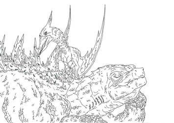 Kaiju: Cleaning Time by Cyprus-1