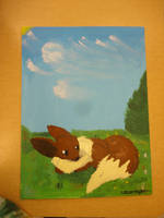 Eevee Traditional Painting FINISHED by VictoriasAuroraOfLuv
