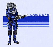 Garrus Vakarian Chibi by Kata
