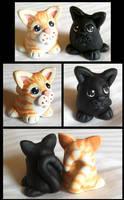 Sculpey Kitties by Kata