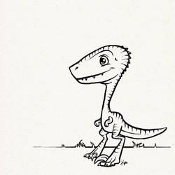 Cutest Velociraptor by Kata