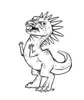 Y-U-Saurus Rex by Kata